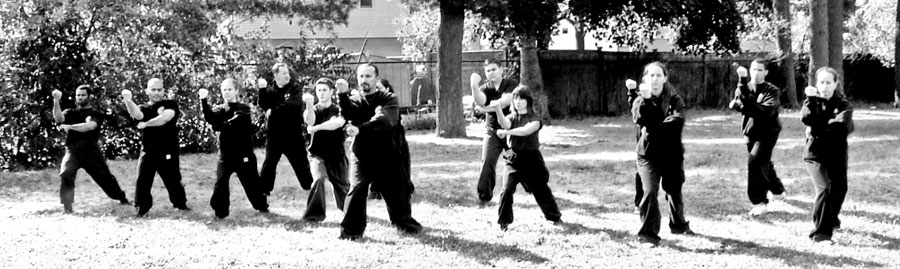 Sifu Ortiz and Students